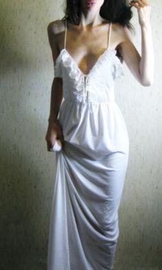 Vintage white maxi dress.