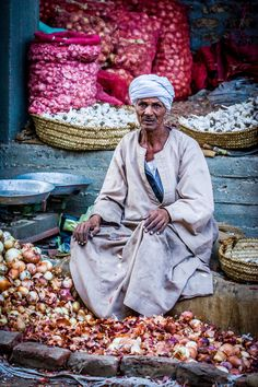 Onion Seller, Luxor, Egypt