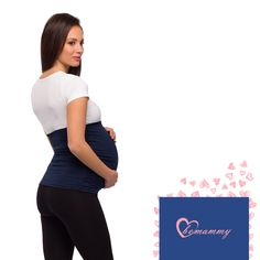 Maternity belt - navy blue. Be Mammy maternity wear