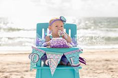 """Minnie Mermaid - """"ONE"""" Highchair Banner Minnie Mouse Mermaid Under the Sea Ocean Ombre Aqua Teal Turquoise Lavender Purple Glitter First Birthday Party Decorations Ideas! Little Mermaid Birthday, Little Mermaid Parties, Baby First Birthday, Birthday Fun, First Birthday Parties, First Birthdays, Birthday Ideas, First Birthday Party Decorations, Under The Sea Party"""
