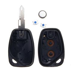 2 Buttons Remote Key Case W/ Battery Kit for Vauxhall Opel Movano Vivaro