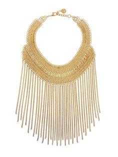 Ben Amun Gold Chain Bib Necklace