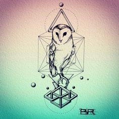 geometric owl tattoo arm - Google-søgning