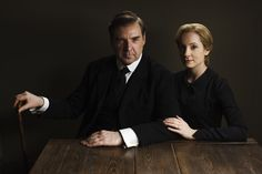 """There's an air of tension here in this photo of Mr. Bates (Brendan Coyle) and Anna Bates (Joanne Froggatt). Will their secrets from last year continue to haunt them in Season 5? 
