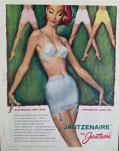 1940-49 Original 1942 Print Ad Munsingwear Foundettes Girdle Bra Undergarments Art Colours Are Striking