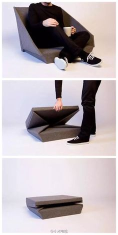 Superb Folding Furniture Ideas to Save Space Folding Furniture, Smart Furniture, Folding Chair, Modular Furniture, Repurposed Furniture, Origami Furniture, Fold Up Chairs, Space Saving Furniture, Bag Chairs