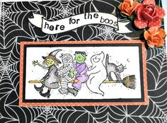 Halloween Fun Halloween Card Witch Card Mummy by LilyGraceInspired