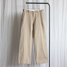 Chino Cloth Pants - wide #khaki