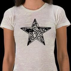 Tribal star sharpie art shirt