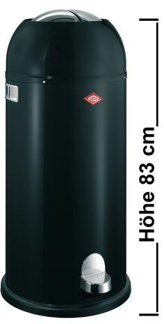 Wesco Kickmaster maxi Mülleimer, 40 Liter schwarz