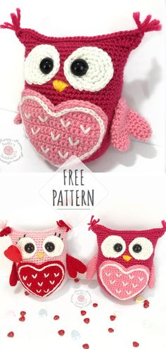 57 Ideas For Crochet Patterns Free Owl Amigurumi Beau Crochet, Crochet Mignon, Crochet Diy, Crochet Amigurumi Free Patterns, Afghan Crochet Patterns, Crochet Gifts, Crochet Dolls, Crochet Afghans, Holiday Crochet