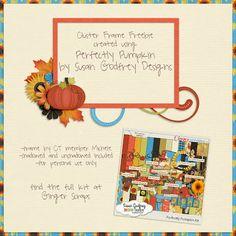 Scrapbooking TammyTags -- TT - Designer - Susan Godfrey Designs, TT - Item - Frame, TT - Style - Cluster, TT - Theme - Autumn or Thanksgiving