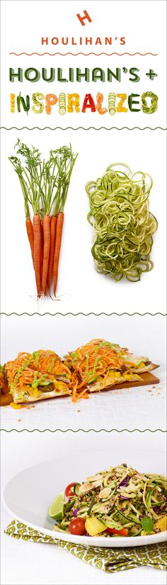 Who needs pasta when you can have veggie noodles? Houlihan's has partnered with @inspiralized to create spiralized veggie dishes. Try one (or all three) today!
