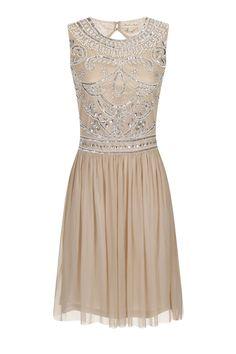 Poppy Stone Embellished Skater Dress