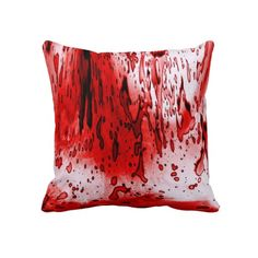 Blood Splatter Throw Pillows