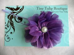 Large Purple Flower Baby Headband by TinyTulipBoutique, $9.95