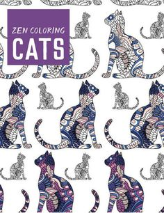 Guild Of Master Craftsman Books-Zen Coloring: Cats