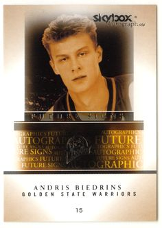 Andris Biedrins # 1 - 2004-05 SkyBox Autographics Basketball Future Signs