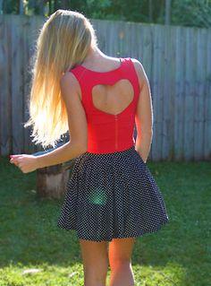 heart cutout dress<3
