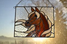Sam - Delphi Artist Gallery by Sponaugle Stained Glass horse