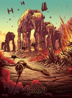 'Star Wars: The Last Jedi - Battle of Crait' by Dan Mumford