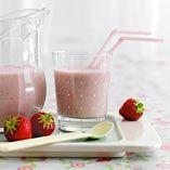 Jordbær-banan milkshake - Opskrifter