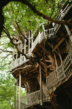 The Minister's Treehouse in Crossville, Tennessee is a 100ft structure built by minister Horace Burgess from the early 1990s through 2004.