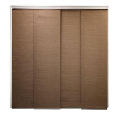 Alternative to closet doors?? Cordless French Truffle Natural Woven Sliding Panel Shade, 96 in. Length (Price Varies by size)