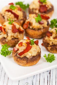 Champignons farcis au bacon : une recette de plat facile