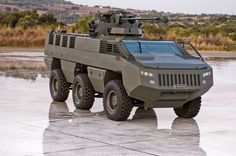The Paramount group Mbombe armoured fighting vehicle fitted with the 30mm overhead weapons system. South Africa.