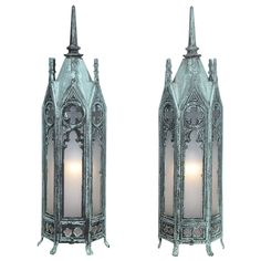 Bronze Gothic Lamps | From a unique collection of antique and modern table lamps at http://www.1stdibs.com/furniture/lighting/table-lamps/