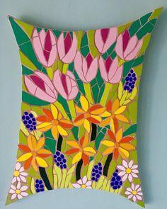 #mosaic #spring #flowers #flowers #daffodils #tulips #springflowers #art #flowerart #originalartwork #artist #artforsale #arttobuy