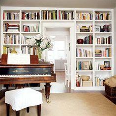 Image result for bookshelf over and around doorway