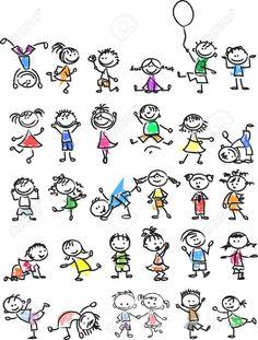 Cute Glücklich Cartoon-Doodle Kids Lizenzfrei Nutzbare Vektorgrafiken, Clip Arts, Illustrationen. Image 33650209. Doodle Drawings, Cartoon Drawings, Doodle Art, Easy Drawings, Doodle Kids, Happy Cartoon, Cartoon Kids, Cartoon Drawing For Kids, Fingerprint Art