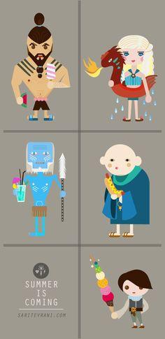 SUMMER is coming ! by Sarit Evrani, via Behance #got #illustration #design