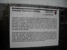 Secret Service Office Marker. Click for full size.