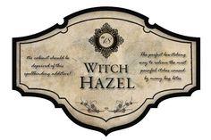 Witch Hazel Label