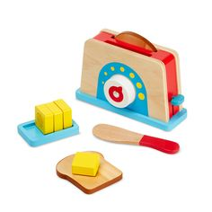 Melissa & Doug Let's Play House! Toaster Set<br><br>In 1989 The Melissa & Doug Company started in the garage of the home where Doug grew up! Thanks to your support, the Melissa & Doug Company grew and was able to move into a real office down the road. Their philosophy has remained the same over the years-to make each and every customer a happy and permanent member of the Melissa & Doug family, while offering products with tremendous value, quality and design. Melissa & Doug have always…