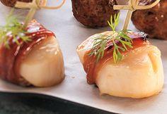 Pétoncles enrobés de prosciutto #recette #bouchee