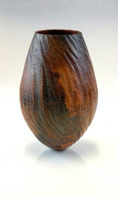 brown - vase - ceramic - Michael Rice