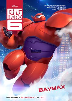 Big Hero 6 Baymax Poster No AS103 via PopKartSg. Click on the image to see more!