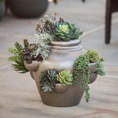Belham Living Emerald Ceramic Strawberry Pot