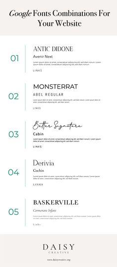 Best Free Fonts, Free Font Websites, Free Web Fonts, Typography Fonts, Lettering, Best Google Fonts, Google Font Pairings, Business Fonts, Feminine Fonts
