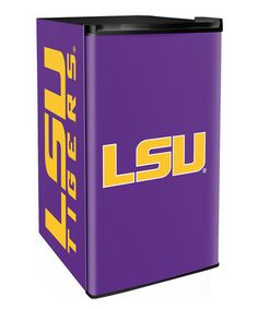 This LSU Tigers Counter Height Fridge is perfect! #zulilyfinds