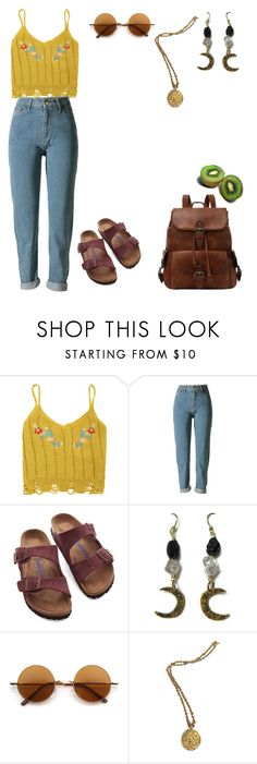 """""""18 : 13"""" by fourruredesbois ❤ liked on Polyvore featuring Birkenstock, Retrò and Chanel"""