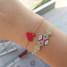 off loom beading stitches Bead Jewellery, Bead Earrings, Diy Jewelry, Beaded Jewelry, Jewelry Design, Jewelry Making, Bracelet Designs, Bracelet Patterns, Beading Patterns