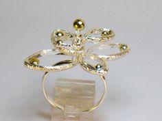 Sterling silver kinetic spinning flower ring by RadiantOriginals, $46.00