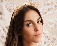 Tocado hojas doradas - golden leaf headpiece - bridal headpiece
