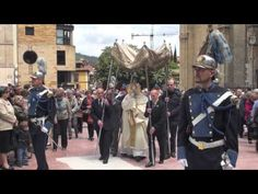 Celebración del Corpus Christi en Oviedo.