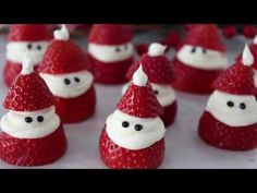 Strawberry Santas - How to Make a Santa Strawberry with Video Tutorial